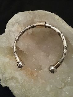 Zino UK Jewellery heavy weight mens 'out of the ground' 9ct gold and solid sterling silver bangle