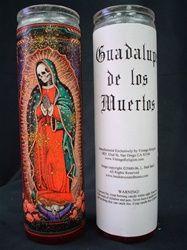 Muertos Guadalupe Candle