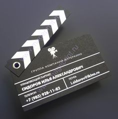 Love this business card idea! It would be perfect for a Cinema. =D