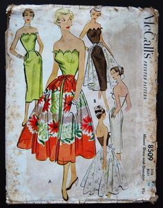 McCall's 50's Cocktail Dress Overskirt Pattern No. 8509.jpg