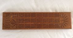 Vintage Triumph NYC cribbage board MADE IN Canada Metal Pegs - Nice!