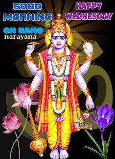 Happy Gif, Hindu Art, Hare Krishna, Morning Greeting, Happy Wednesday, Good Morning Images, Gods And Goddesses, Princess Zelda, Fictional Characters