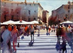 Alvaro Castagnet, a watercolor painter from Montevideo, Uruguay