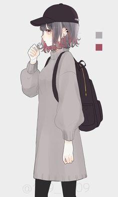 anime female Drawing Anime Female Manga Girl I - anime Kawaii Anime Girl, Cool Anime Girl, Beautiful Anime Girl, Anime Art Girl, Anime Love, Anime Girls, Anime Chibi, Manga Anime, Fanarts Anime