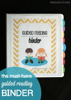 The Must-Have Guided Reading Binder for Teachers. Binder covers, section dividers, divider tabs, binder spines, alphabet and sight word assessments, student data sheets and so. much. more.