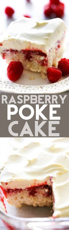 This Raspberry Poke Cake is so simple and such a wonderful dessert! It has a wonderful berry filling infused into each bite of cake that is both tart and sweet.