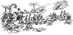 Lovci mamutu. Pohreb Nijany.Tlupa sedici u pohrebiste a vzdavajici hold zesnule. Tretoplanove stromy a taboriste. Diagram, Snow, Map, World, Outdoor, Human Evolution, Literatura, Outdoors, Location Map