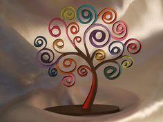 souvenirs árbol de la vida, en fibrofácil pintado a mano Quilling, Scroll Saw, Jewellery Display, Incense, Mandala, Projects To Try, Wallpaper, Diy, Crafts