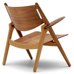 Wegner CH28 Sawhorse Chair - All Wood - Oak Frame