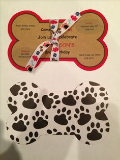 Handmade Puppy Birthday Invite                                                                                                                                                                                 More
