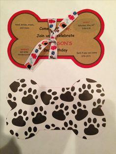 Handmade Puppy Birthday Invite