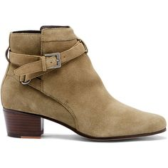 Sole Society Leo Ankle Bootie ($55) ❤ liked on Polyvore featuring shoes, boots, ankle booties, ash green, bootie boots, suede ankle booties, green ankle boots, suede ankle boots and suede bootie
