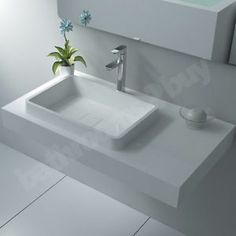 wall mount bathroom sink  | Details about Avanos Wall Mounted Cast Stone Bathroom Basin Sink Bowl