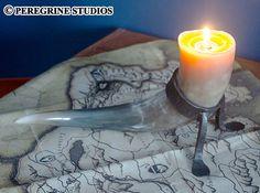 Horn Candleholder SkyrimInspired by PeregrineStudios on Etsy, $114.99