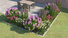 garten beet Design your bed with professional support - Design your bed with professional support OBI bed planner - Small Gardens, Outdoor Gardens, Front Yard Design, Plantar, Beets, Amazing Gardens, Land Scape, Vegetable Garden, Shrubs