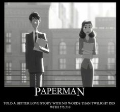 Paperman is one of the best animated shorts I've ever seen.