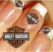 Of 20 Harley Davidson Stickers In 2 Sizes 60 Nail Art