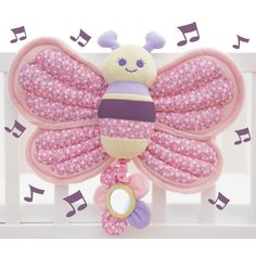 Little Bird Told Me Billowy Butterfly Music & Lights Cot Toy available online at http://www.babycity.co.uk/