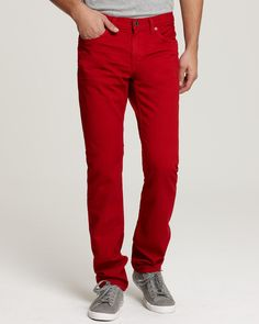 "Denim Slim Fit (Red) Say ""hello"" to your new favorite jeans. These are an everyday wear. Premium Quality Denim Fine stitching with slim fit cut, but not t Casual Outfits For Teens, Boho Summer Outfits, Denim Jeans Men, Slim Jeans, Cute Blouses, Queen, Casual Looks, Men's Clothing, Stitching"