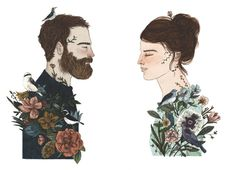 Nature Boy and Nature Girl by Lizzy Stewart