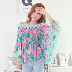 Autumn Fashion Three-Dimensional Lace Chiffon Shirt