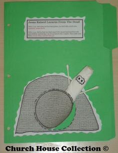 Church House Collection Blog: Jesus Raised Lazarus From The Dead Lapbook Craft For Kids In Sunday School or Children's Church