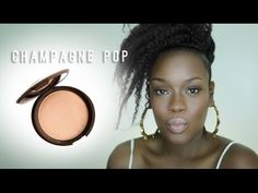 Jaclyn Hill x Becca Champagne pop Highlighter review for dark skin - YouTube