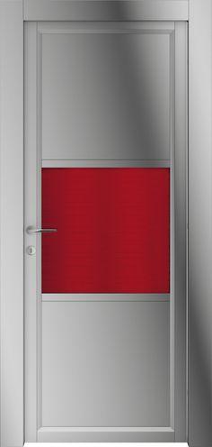 Risultati immagini per porte interne con elemento colorato