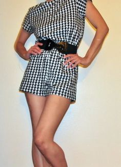 Buy my item on #vinted http://www.vinted.com/womens-clothing/rompers/22560959-blackened-white-houndstooth-romper
