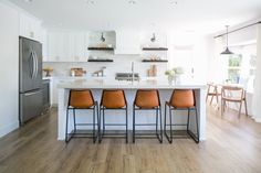 Another great transformation of a very plain space that acquires a lot of personality and style with the right design decisions. Open concept kitchen,that doubles its original size, and a brave use…