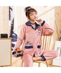 32f6cfdb30 Plus size flannel pajamas thickened home furnishing