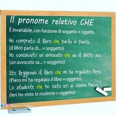 """""""Mi piace"""": 163, commenti: 1 - Impariamo l'italiano 🇮🇹 (@impariamoitaliano) su Instagram: """"Il pronome relativo CHE #learnitalian #learningitalian #studyitalian #italianlanguage…"""""""