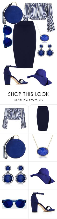 """""""BLUE"""" by criiss-prdd ❤ liked on Polyvore featuring Love, WearAll, Diane Von Furstenberg, Allurez, Stuart Weitzman and plus size clothing"""