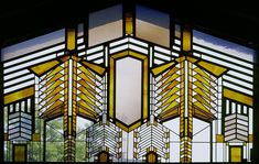 Frank Lloyd Wright window. The Dana-Thomas House, Springfield, IL
