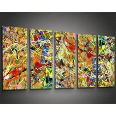 Metal Abstract Wall Art Decor - Pollock 6