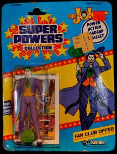 THE JOKER ACTION FIGURE 1984 KENNER SUPER POWERS COLLECTION-99680-NEW OLD STOCK! #Kenner