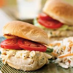 Summer Crab Rolls from Cooking Light