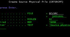 How to write CL program - AS400/IBM iseries