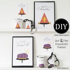≡ DIY free printable Sint en Piet pakket.
