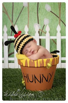 Bumble Bee Hat and Bottom Tushy Topper Cover by Babyinthehat, $26.00