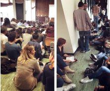 Seduti per terra. Dietro al muro in corridoio. Oppure in bilico sopra un calorifero: centinaia di migliaia di studenti devono affrontare le lezioni in condizioni disastrose. Raccontateci la vostra esperienza