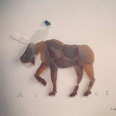 Don't moose with me! #seaglass #seaglassartist #seaglassart #moose #mooseart