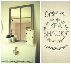 Aprende cómo hacer un espejo de cuarterones con espejos Lots de Ikea.