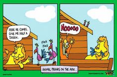 Animal pranks on the ark -