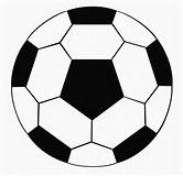 Image result for Soccer Ball Cut Out Pattern