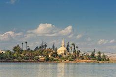 Hala Sultan Tekke Mosque Cyprus, Building Design, Cemetery, Serenity, Places Ive Been, Wet Nurse, Taj Mahal, Around The Worlds, Europe