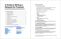 Simple Request for Proposal Letter Templates