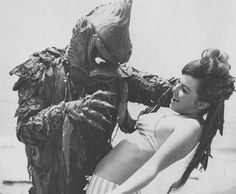 B Movie Creature attack!--I used to watch this each day after school.  My friend was too scared to look at the creature.