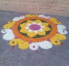 Flower Rangoli Designs - Pookalam Onam