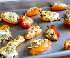 goat cheese stuffed peppers #recipe #bbq #grill